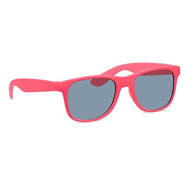 BORA - Sluneční brýle z bambusu a PP  - červená