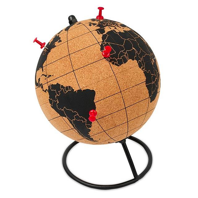PINPOINT - Globus z korku                 - hnědá