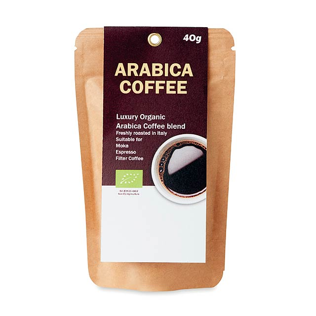 ARABICA 40 - Mletá bio káva Arabica 40g     - foto