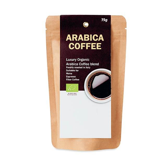 ARABICA 75 - Mletá bio káva Arabica 75g     - béžová