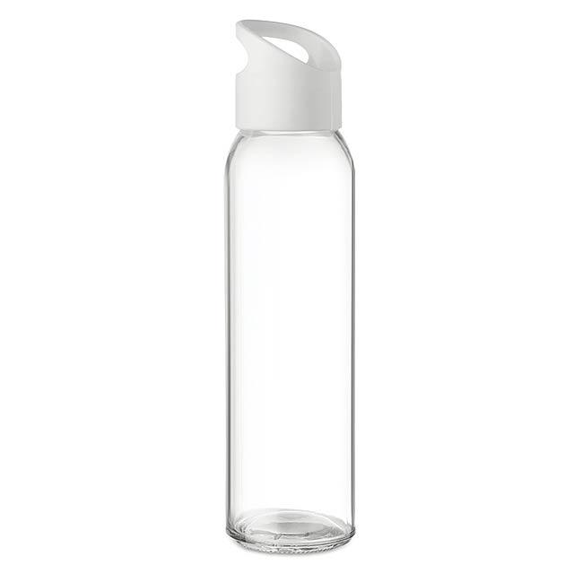PRAGA - Skleněná láhev 470ml           - bílá