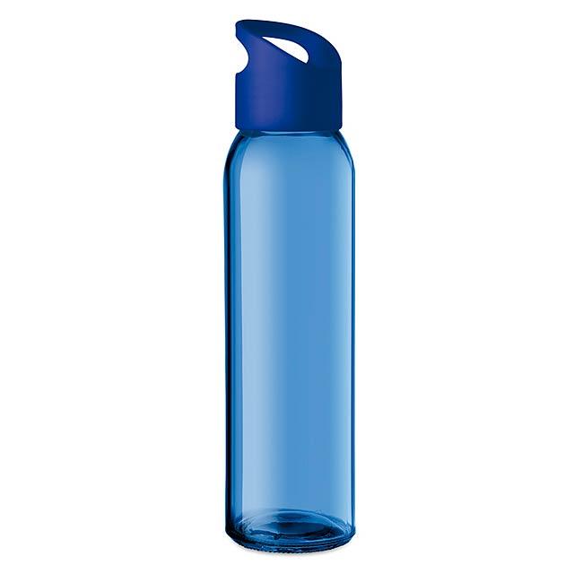 PRAGA - Skleněná láhev 470ml           - královsky modrá