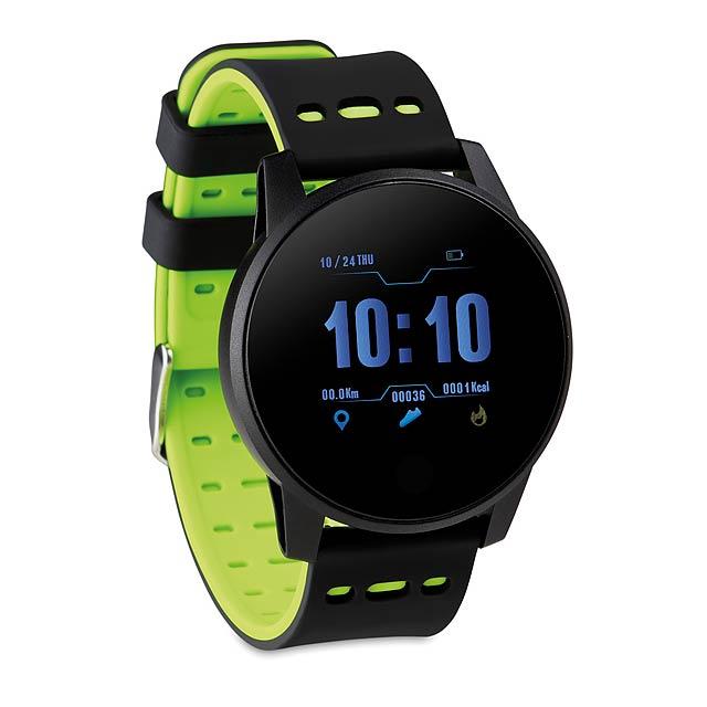 TRAIN WATCH - Sportovní chytré hodinky  - citrónová - limetková