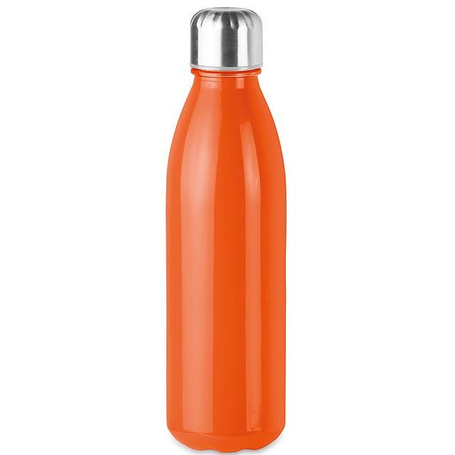 ASPEN GLASS - Skleněná láhev na pití, 650ml  - oranžová