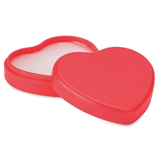 COEUR - Lůj na rty ve tvaru srdcce  - červená