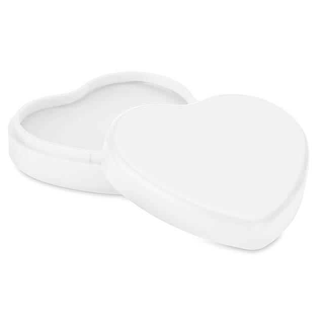 COEUR - Lůj na rty ve tvaru srdcce  - bílá