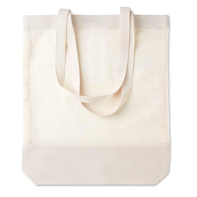 MESS BAG - Nákupní taška ze síťoviny  - béžová