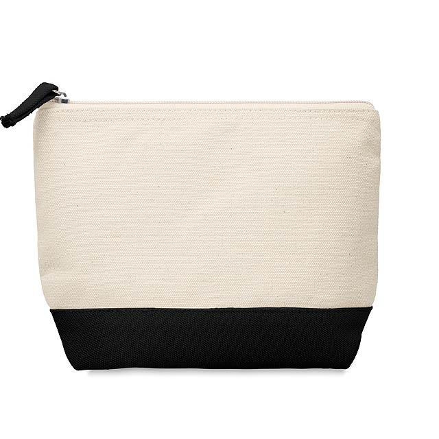 KLEUREN - Kosmetická bavlněná taštička  - černá