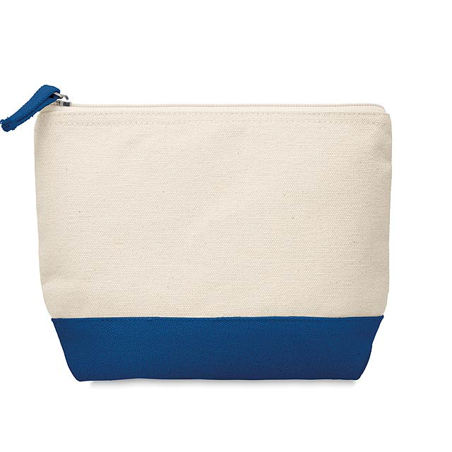 KLEUREN - Kosmetická bavlněná taštička  - modrá