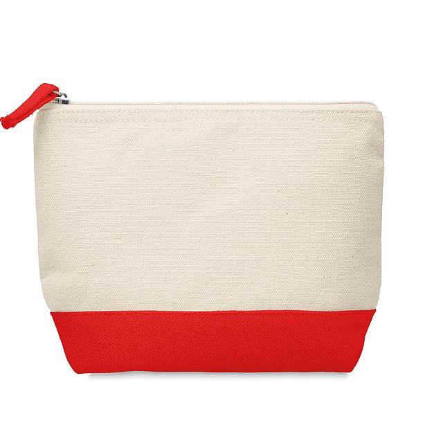 KLEUREN - Kosmetická bavlněná taštička  - červená