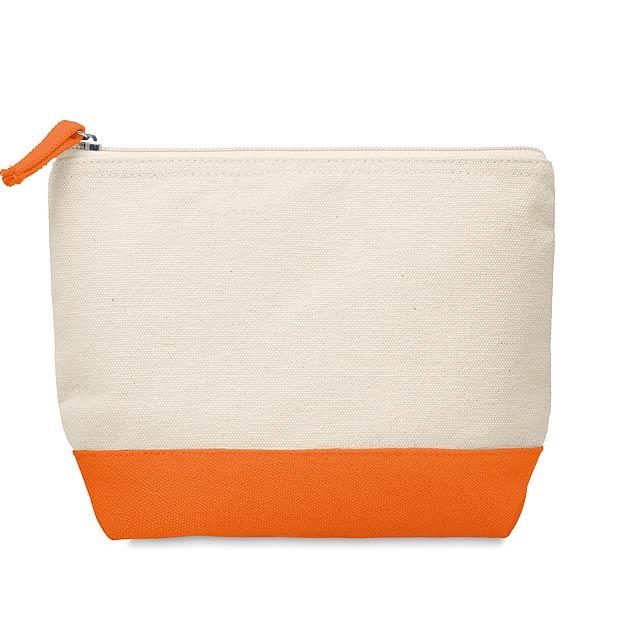 KLEUREN - Kosmetická bavlněná taštička  - oranžová