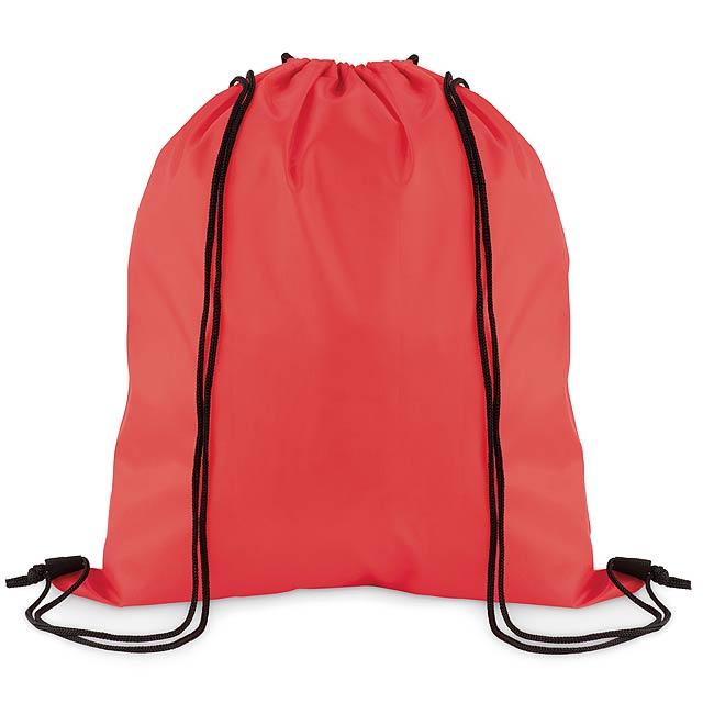 SIMPLE SHOOP - Stahovací batoh z polyesteru  - červená