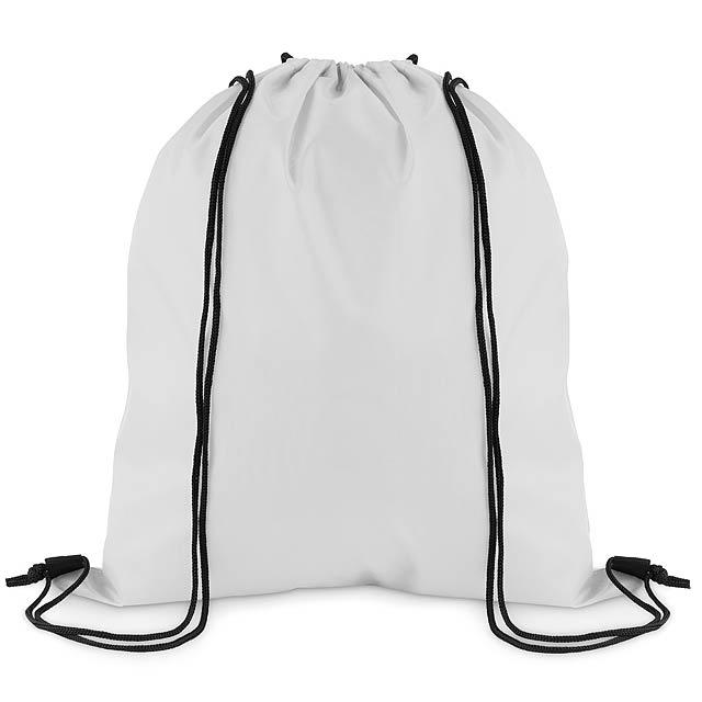 SIMPLE SHOOP - Stahovací batoh z polyesteru  - bílá