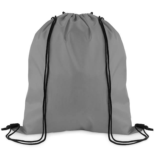 SIMPLE SHOOP - Stahovací batoh z polyesteru  - šedá