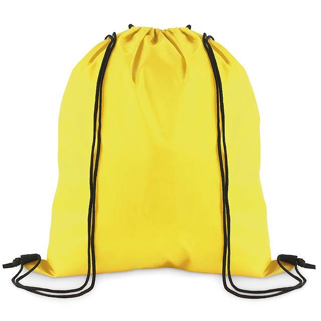 SIMPLE SHOOP - Stahovací batoh z polyesteru  - žlutá