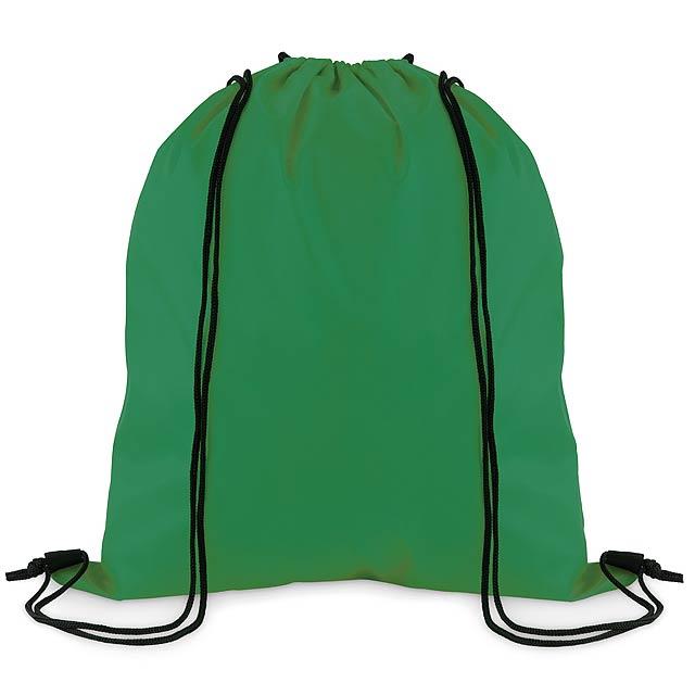 SIMPLE SHOOP - Stahovací batoh z polyesteru  - zelená/zelená