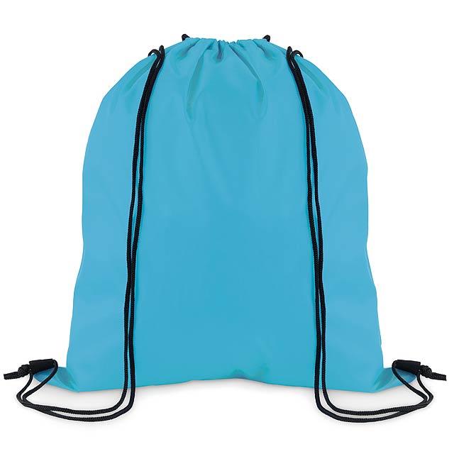 SIMPLE SHOOP - Stahovací batoh z polyesteru  - tyrkysová