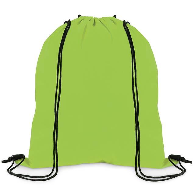 SIMPLE SHOOP - Stahovací batoh z polyesteru  - citrónová - limetková