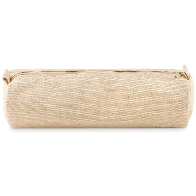 NATU POUCH - Penál z bavlny  - béžová