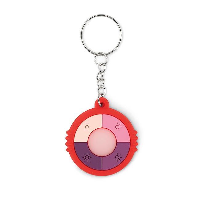 UV CHECK RING - Přívěsek s UV sensorem  - červená