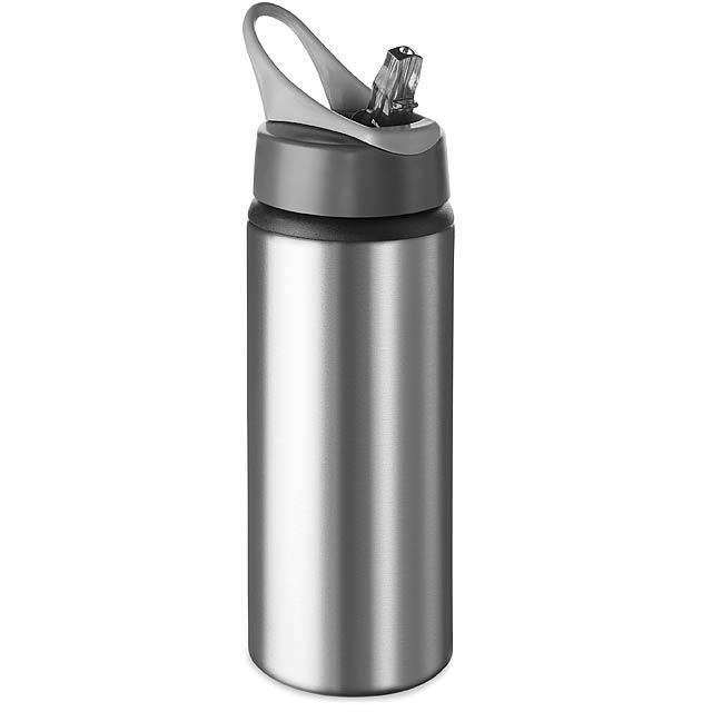 ATLANTA - Hliníková 600ml láhev  - stříbrná mat