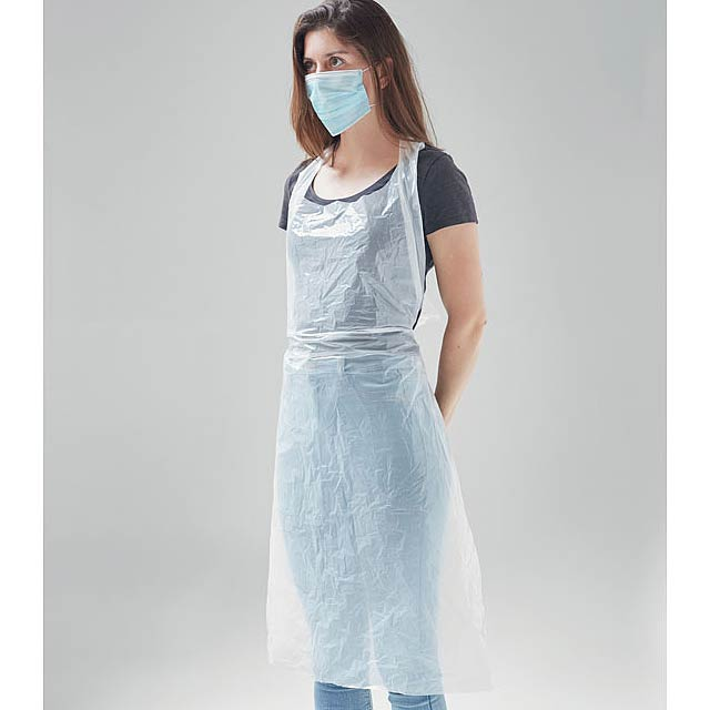 APRONBAG - disposable apron - transparent white