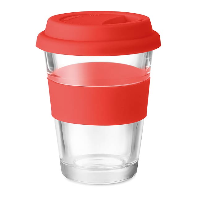 ASTOGLASS - Skleněný pohárek  - červená