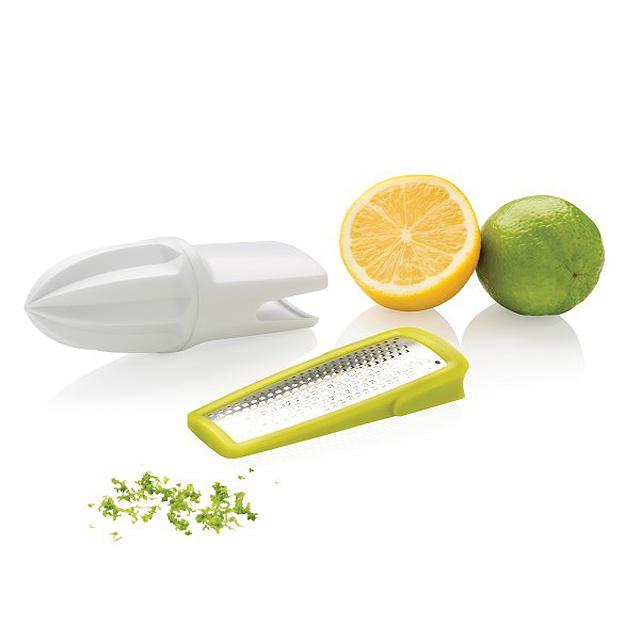 Struhadlo a odšťavňovač na citrusy, bílá - bílá