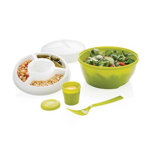 Krabička na salát 4 v 1, zelená - zelená