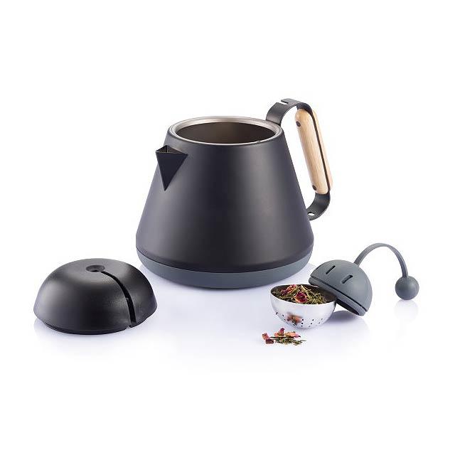 Konvička na čaj Teako, černá - černá