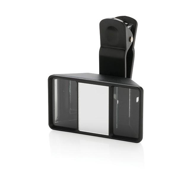 Univerzální 3D objektiv fotoaparátu, černá - černá