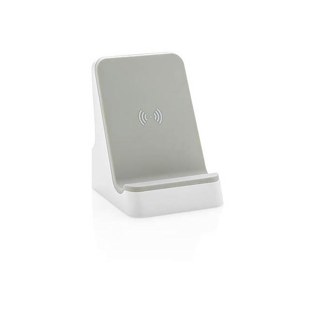 Bezdrátově nabíjecí stojánek 5W - bílá