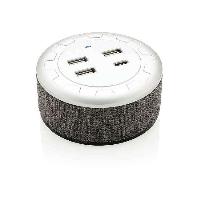 USB rozbočovač Vogue, šedá - šedá