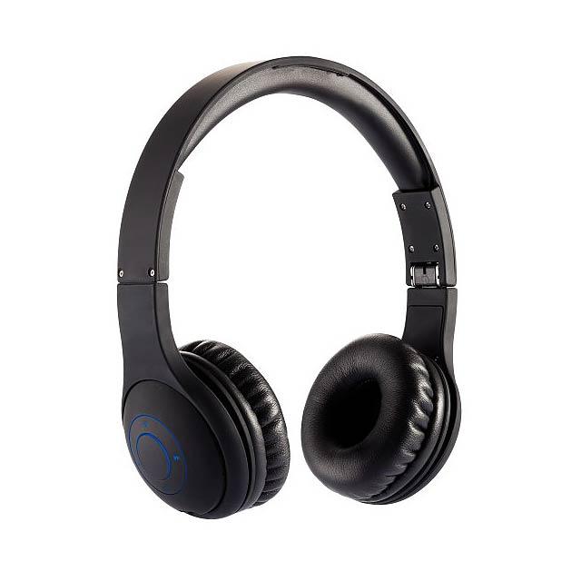 Skládací bezdrátová sluchátka, černá - černá