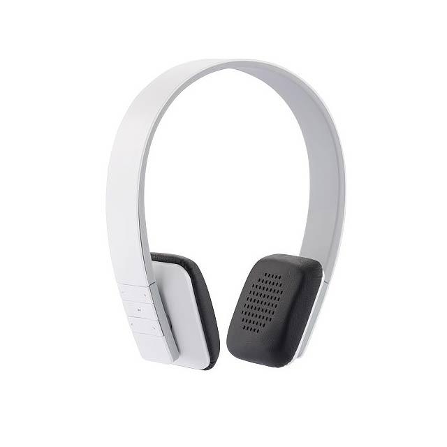 Stereofonní bezdrátová sluchátka, bílá - bílá