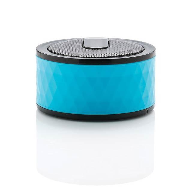 Bezdrátový reproduktor sgeometrickým vzorem, modrá - modrá