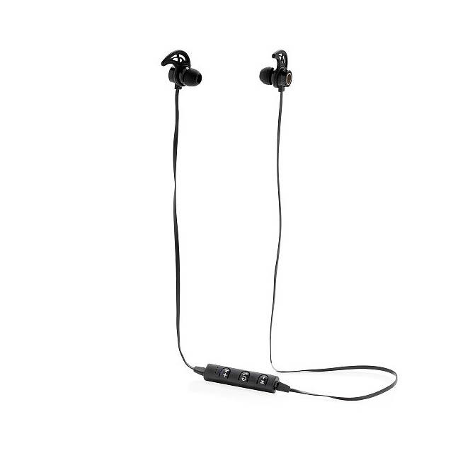 Bezdrátová sluchátka do uší Klik, černá - černá