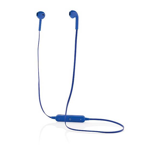 Bezdrátová sluchátka - pecky, modrá - modrá