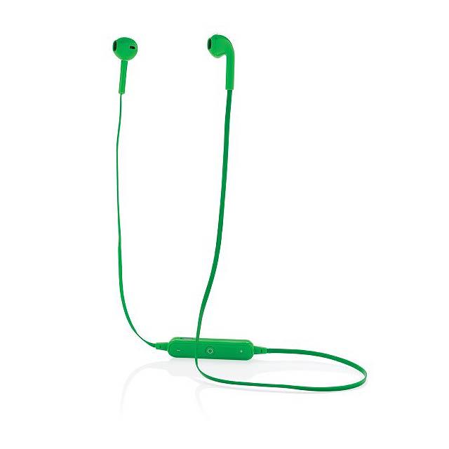 Bezdrátová sluchátka - pecky, zelená - zelená