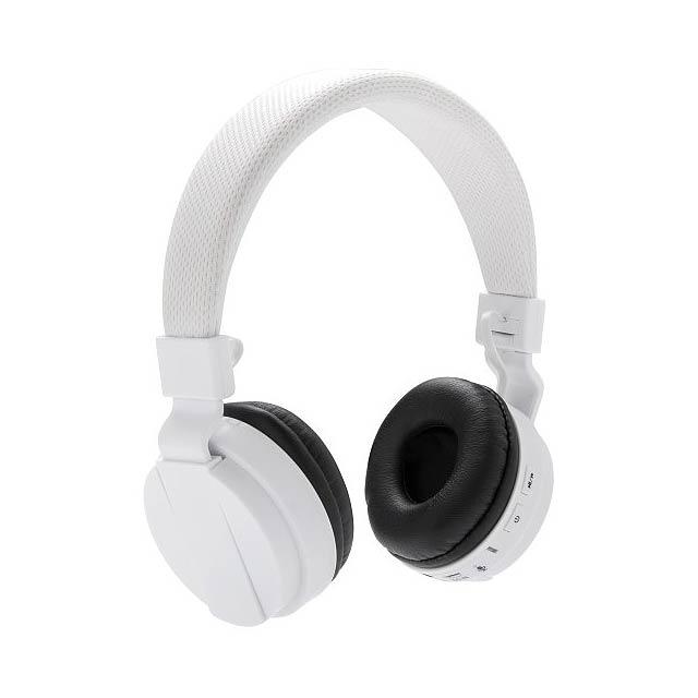 Skládací bezdrátová sluchátka, bílá - bílá