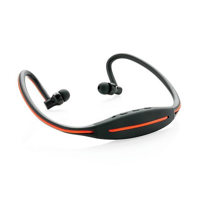 LED sluchátka na běhání, černá - černá