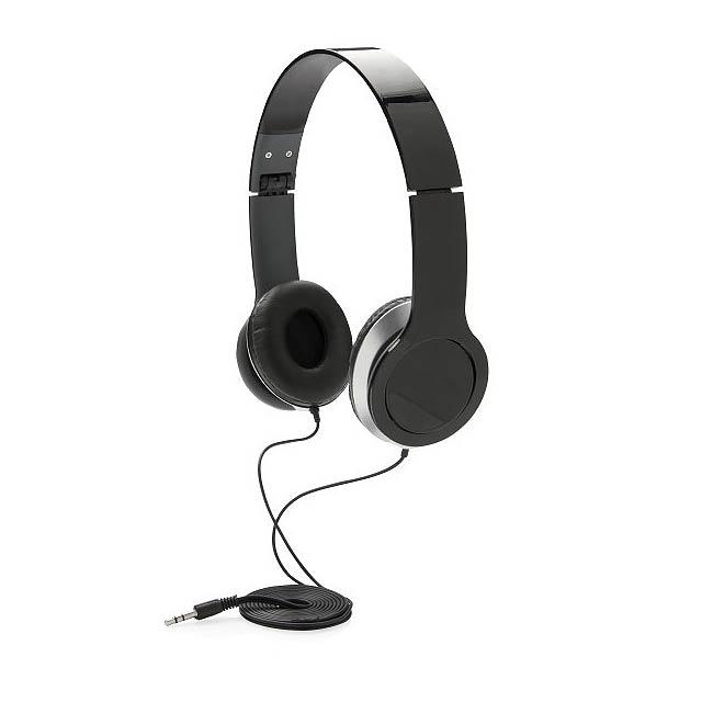 Základní sluchátka, černá - černá