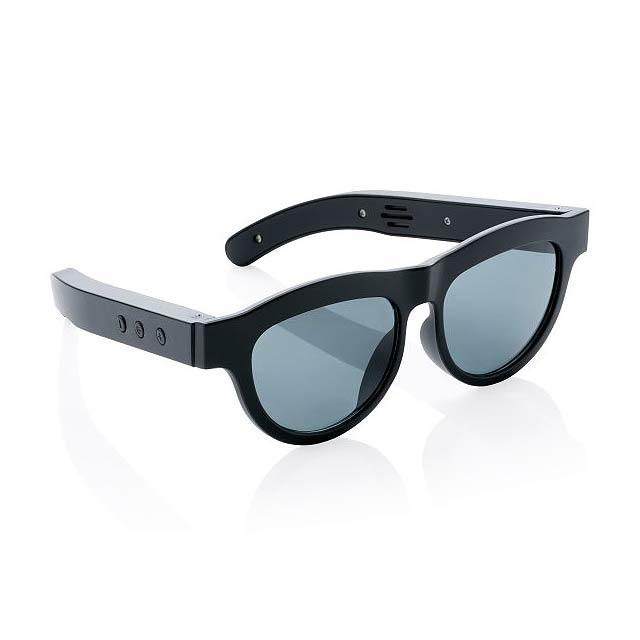 Sluneční brýle s bezdrátovým reproduktorem, černá - černá