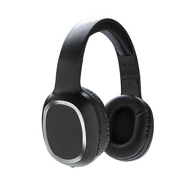 Bezdrátová náhlavní sluchátka - černá