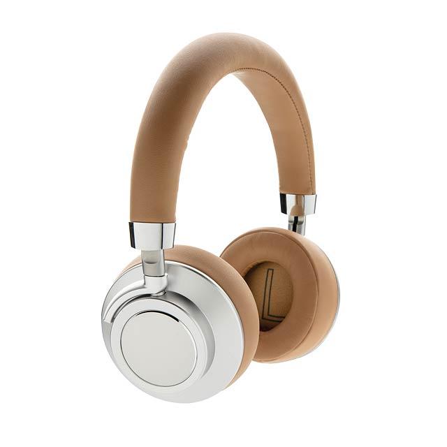 Komfortní bezdrátová sluchátka Aria - hnědá