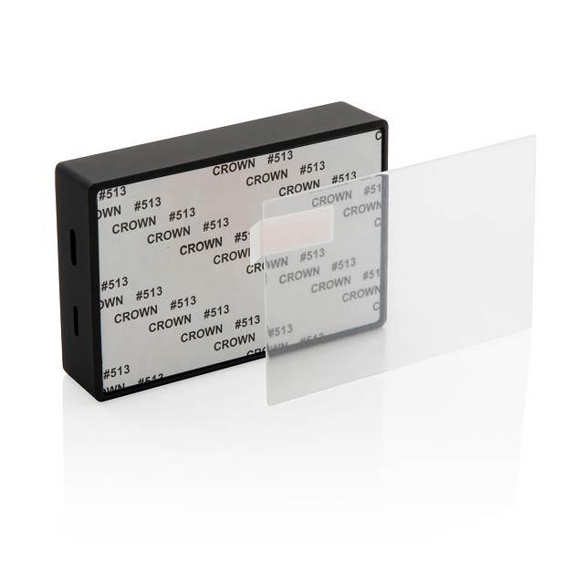 Bezdrátový reproduktor 3W s tvrzeným sklem - černá