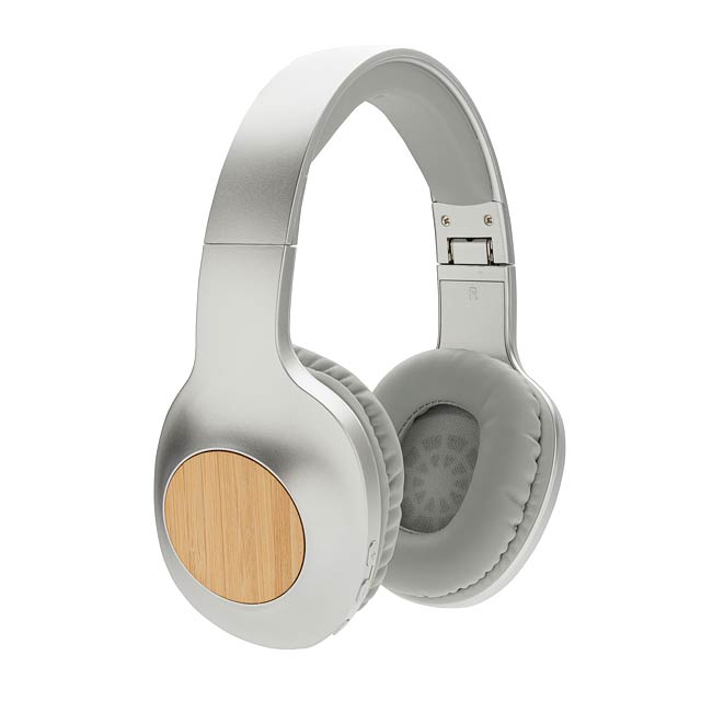 Bambusová bezdrátová sluchátka Dakota - šedá