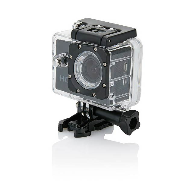 Action camera inc 11 accessories, black/black - black