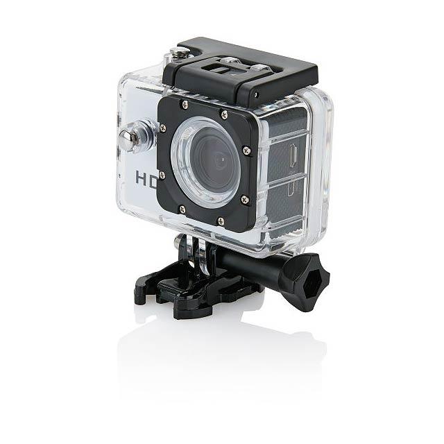 Akční kamera s11dílným příslušenstvím, bílá - bílá