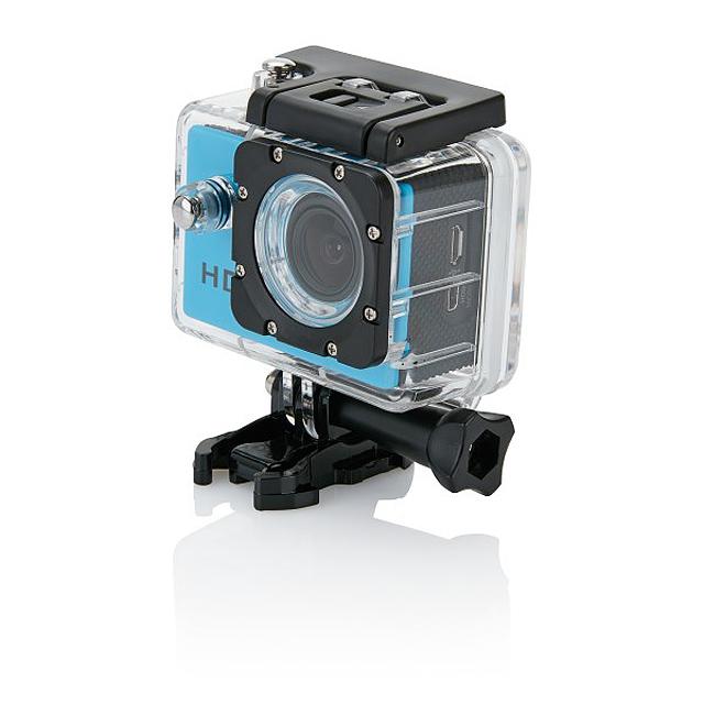 Akční kamera s11dílným příslušenstvím, modrá - modrá